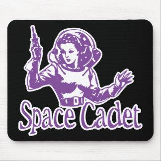 Púrpura del cadete del espacio mousepads