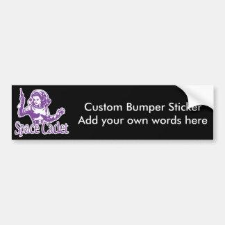 Púrpura del cadete del espacio pegatina para auto
