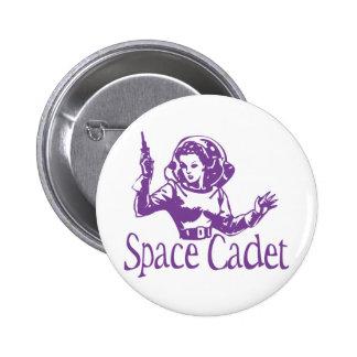 Púrpura del cadete del espacio pin redondo 5 cm