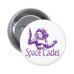 Púrpura del cadete del espacio pins