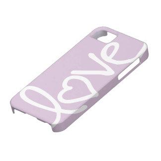 púrpura del cardo - amor iPhone 5 carcasa