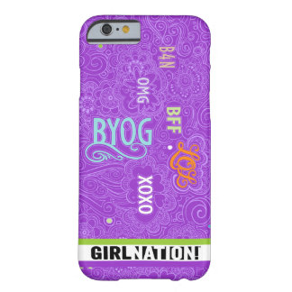 Púrpura del caso de la charla iPhone6 del Doodle Funda Barely There iPhone 6