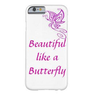 Púrpura del caso del iPhone 6 de la mariposa Funda De iPhone 6 Barely There