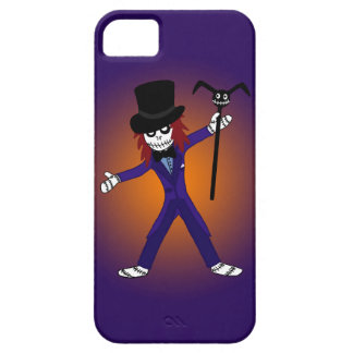Púrpura del caso del iPhone de barón Samedi Voodoo Funda Para iPhone 5 Barely There