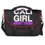 Púrpura del chica de Cali Bolsas Para Portátil
