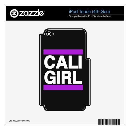Púrpura del chica de Cali Skins Para iPod Touch 4G