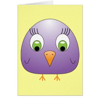 púrpura del chickie B Tarjeta De Felicitación