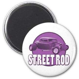 púrpura del círculo de la barra de la calle imán redondo 5 cm