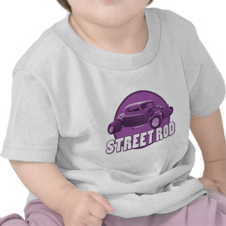 púrpura del círculo de la barra de la calle camisetas