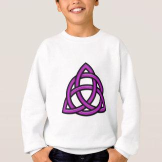 Púrpura del círculo de Triquetra Sudadera