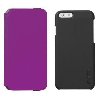 Púrpura del ciruelo funda billetera para iPhone 6 watson