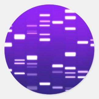 Púrpura del código genético de la DNA Pegatina Redonda