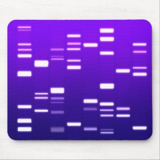 Púrpura del código genético de la DNA Tapetes De Ratones