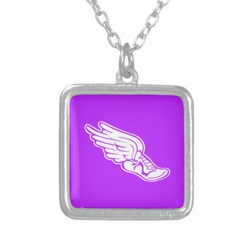 Púrpura del collar del logotipo de la pista