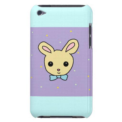 Púrpura del conejito del bebé barely there iPod coberturas