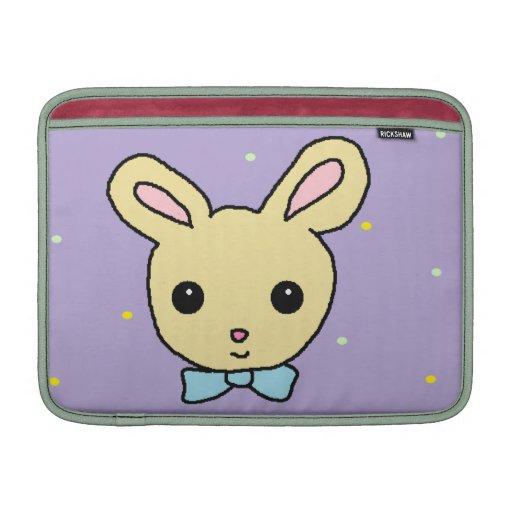 Púrpura del conejito del bebé fundas para macbook air