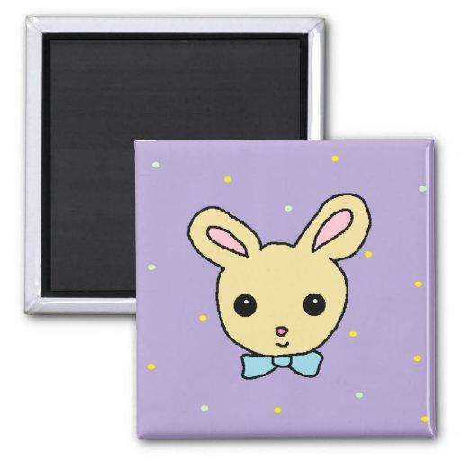 Púrpura del conejito del bebé iman