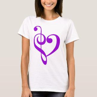 Púrpura del corazón de la música playera
