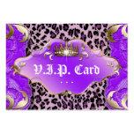 Púrpura del cordón del leopardo de la tarjeta del  plantilla de tarjeta de visita
