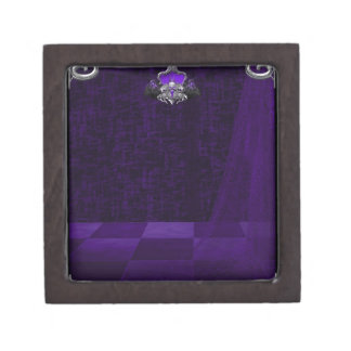 Púrpura del cordón del n del metal cajas de recuerdo de calidad