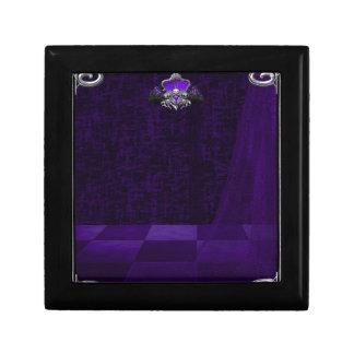 Púrpura del cordón del n del metal cajas de recuerdo