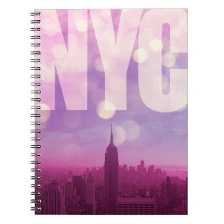 Púrpura del cuaderno de New York City