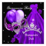 Púrpura del cumpleaños de Quinceanera de la mascar Comunicado