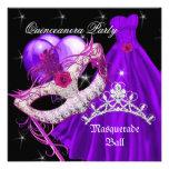Púrpura del cumpleaños de Quinceanera de la mascar Anuncios Personalizados