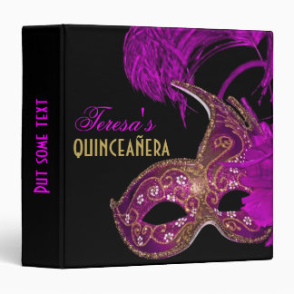 "Púrpura del cumpleaños del quinceañera de la carpeta 1 1/2"""