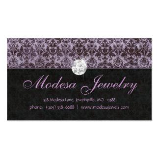 Púrpura del damasco de Birthstones de la tarjeta d Tarjetas De Negocios
