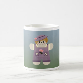 Púrpura del ~ de la muñeca del país taza