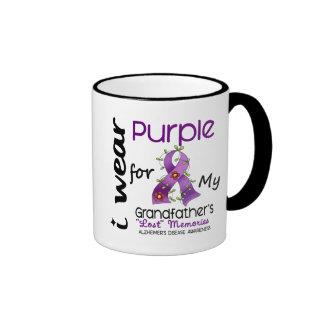 Púrpura del desgaste de Alzheimers I para mi abuel Taza De Café