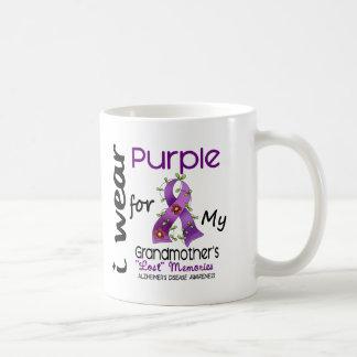Púrpura del desgaste de Alzheimers I para mi abuel Tazas De Café