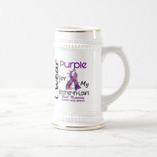 Púrpura del desgaste de Alzheimers I para mi Jarra De Cerveza
