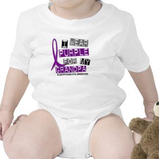 Púrpura del desgaste de LEIOMYOSARCOMA I para mi a Traje De Bebé