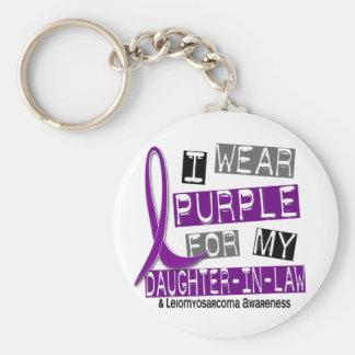 Púrpura del desgaste de LEIOMYOSARCOMA I para mi H Llaveros