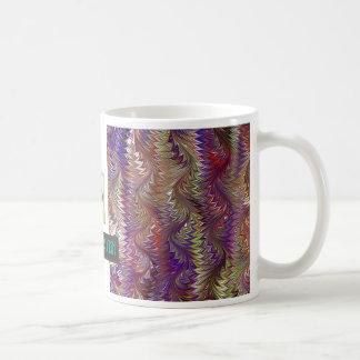 Púrpura del diseño del mármol T Tazas