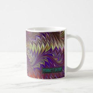 Púrpura del diseño del mármol T Taza De Café