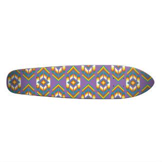Púrpura del diseño del nativo americano monopatín personalizado