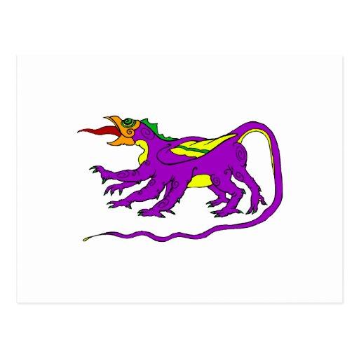 Púrpura del dragón postal