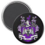 Púrpura del escudo del palo - imán