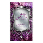 Púrpura del espejo del damasco de la tarjeta de vi plantilla de tarjeta de negocio