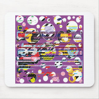 Púrpura del fiesta mouse pads