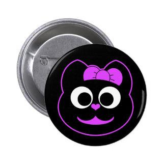 Púrpura del gatito de KiKi Pin Redondo 5 Cm
