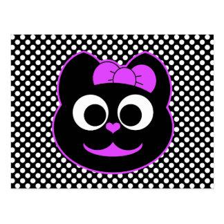 Púrpura del gatito de KiKi Postal
