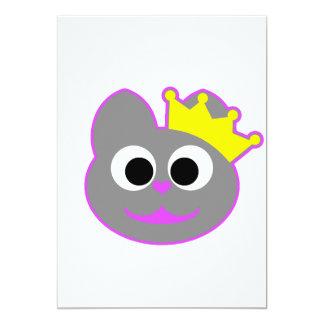 Púrpura del gatito de la reina - gris comunicado personalizado