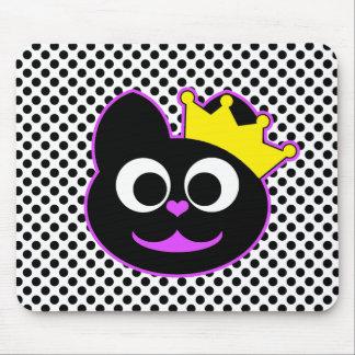 Púrpura del gatito de la reina tapete de raton