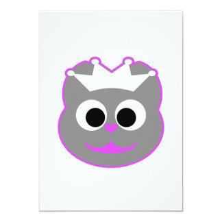 Púrpura del gatito del boda - gris comunicados personalizados