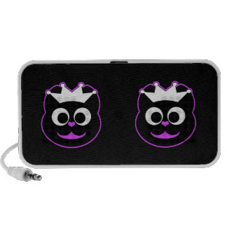 Púrpura del gatito del boda iPod altavoz