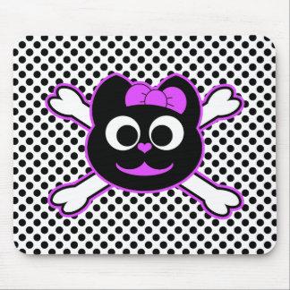 Púrpura del gatito del cráneo alfombrilla de ratones